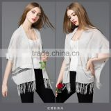 2016 new design summer hollow loose knit short-sleeved V-neck bat cardigan thin coat for girls