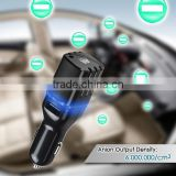 Portable dual usb port for Ios/Andriod smartphone with negative ion generator air purifier car charger                                                                         Quality Choice
