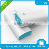 Trulyway Water Ripple series TL-36 5200mAh Portable charger for smart phones and digital devices-optional colors