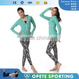 (OEM/ODM Factory)wholesale breathable Woman Sweatshirt Stretch Running Sport Knockout Full Zip Jacket