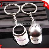 professional factory couple custom metal creative christmas gift baseball hat keychain