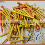 Wholesale stock natural novelty wood golf tees with low price