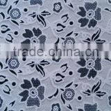 polyester burning flower cotton lace fabric for dress