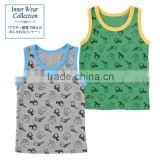Japanese wholesale product hot selling item cute boys underwear baby inner kids wear clothing shirts high quality animal pattern