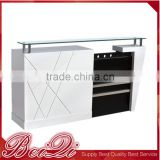 Nice design salon furniture MDF cash counter check out counter receiption desk for barber shop