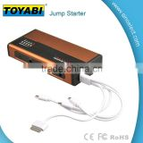 15V 12000 mAh 400 Amp Lithium Portable Power Bank Battery Charger and Car Jump Starter with Colorful Aluminum Materials Portable