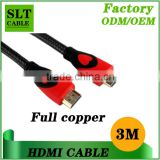 Shenlantuo 3m High speed hdmi cable or laptop to hdtv support 4K*2K 2160P 3D Ethernet 1.4V