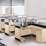Modern Typical Open Office Workstation Modular combined with Aluminum & Glass(SZ-WS335)