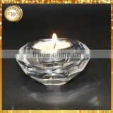 Factory hot selling small crystal tealight candle holder