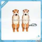 pvc mini fox cartoon keychain,mini cartoon fox shape toy keychain,cute plastic key chain