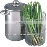 2015 New Products High Quality Stainless Steel Covered Asparagus Pot With S/S Hollow For Wholesale