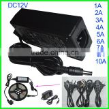 Security power supply Adapter AC100-240V to DC 12V led transformer 1A 2A 3A 5A 6A 7A 8A 10A led power supply 12 volt 5 amp