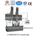 CVT8050-2R double tool holder cnc vertical lathe machine for sale