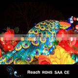 New design peacock with LED lights chinese festive lantern Animal lights holiday festival decoration