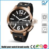 Build your watch brand easily man watch parts stainless steel case and back japan movement