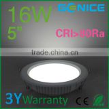 Super Bright 16W LED Ceiling Light Downlight Recessed Lighting kit for decoration lighting lamp