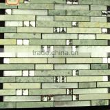 (glass + marble ) Mosaic wall tiles, different material mixed mosaic, composited color blended mosaic