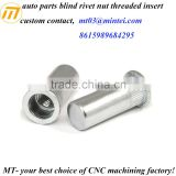 custom auto parts blind rivet nut threaded insert