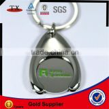 nickel keychain trolley coin keyring