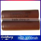 100% korea genuine 18650 li-ion battery rechargeable lg hg2 battery wholesale lghg2 18650 battery 3000mah
