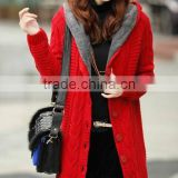 the long thick velvet warm loose korean style cardigan