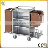 Factory Wholesale Hotel Laundry Maid Trolley stainless steel hotel Housekeeping Cart products                                                                         Quality Choice