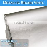 CARLIKE Waterproof Chrome Metallic Brushed Sliver Car Body Wrap Stickers