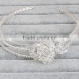 Wholesale crystal headbands bridal tiara flower headbands crown for bride