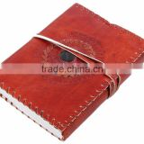 Store Indya Handcrafted Leather Diary Journal Notebook with 100 Unlined Eco-friendly Pages & a Lock