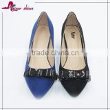 SSK16-294 factory price luxurious elegant fashion sexy top quality graceful microfiber low heel women shoe