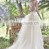 Popular Sale chiffon dress patterns cowl neck ankle length wedding dresses