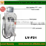 laser therapy equipment e-light ipl rf+nd yag laser multifunction machine venus laser hair and tattoo removal machine