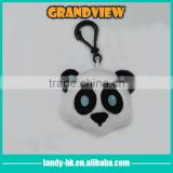 Fashionable animal plush keychain/ plush panda keychain with plastic ring                                                                         Quality Choice