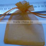 Jewelry package gift packing|Yellow organza bags and pouches blue color-Gemstone jewelry Manufacturer