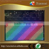 New style 16x32 RGB full color flexible mini led scrolling sign with smartphone bluetooth APP communication control