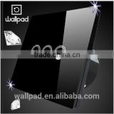 INQUIRY ABOUT Wallpad Modern LED Indicator Waterproof Black Crystal Glass 110~250V Timmer Switch Touch Screen Time Delay Light Switch