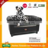 Luxury High End Black Pu Leather Pet Sofa                                                                         Quality Choice