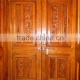 Main Entrance Solid Wood hand carved Double Door
