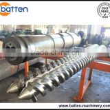 65/132 conical twin screw extrusion jwell screw barrel for PVC plastic pipe