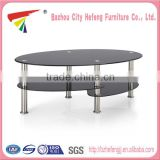 2015 New Style curved glass coffee table