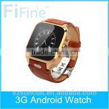 Fifine New Products 2015 Cheap W9 Smart Watch,W9 Smart t3G telephone watch wrist WIFI For Android Ios Phone