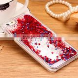 Fashion Transparent phone cases Fun Glitter Star Liquid Phone Back Case cover For Iphone 5/6s/6s plus