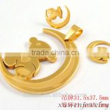 fashion bear IPG gold plated stainless steel jewelry sets