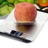 Ultra Thin Stainless Steel Brushed Platform Kitchen Digital Food Scale                                                                         Quality Choice