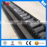 corrugated sidewall cleated conveyor belt for steep inclination angle materials conveying