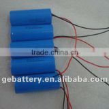 Power battery Cylindrical Li-ion Battery Batteries 26*65mm Cell with PCB, Cable and connector