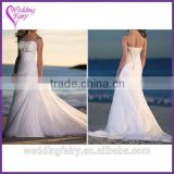 New coming top quality beaded sash bride dresses reasonable price