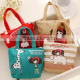 fashion canvas custom cute Zipper euro coin purse little girls printing promotional mini small handbag purse wallet