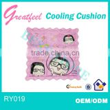 flowers printed cushion with hydrogel injections cooling cushion