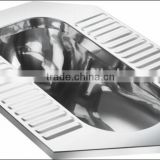 High Quality Stainless Steel WC Squatting Pan For Train GR-006
